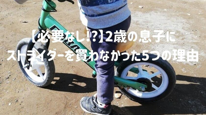 【必要なし!_】2歳の息子にストライダーを買わなかった5つの理由