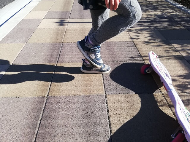 足を動かす練習