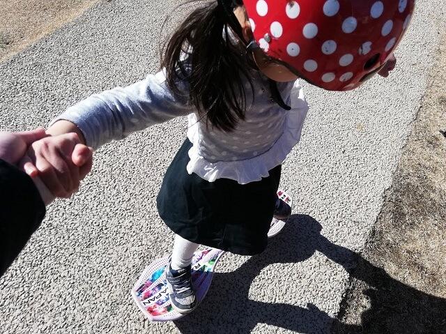片足の乗りの練習