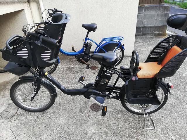 カゴがない子ども乗せ電動自転車