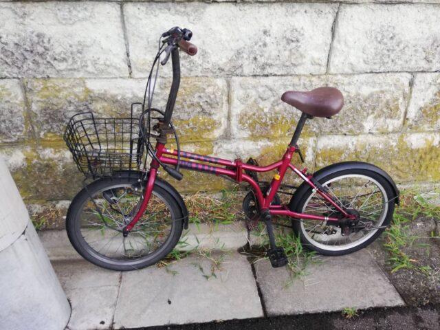 廃棄する自転車