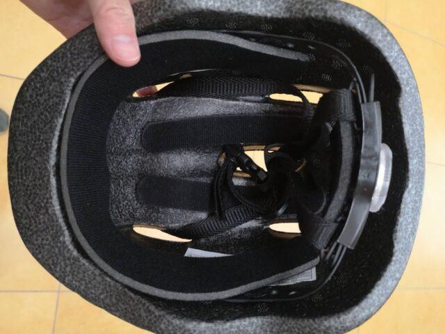 ソフトシェルヘルメットの内側