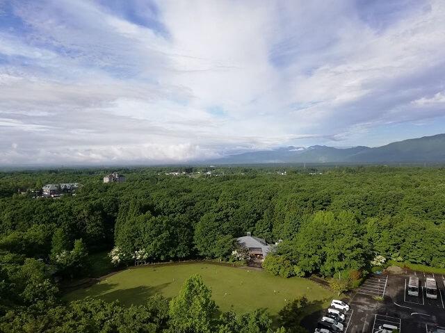 部屋から見た那須高原