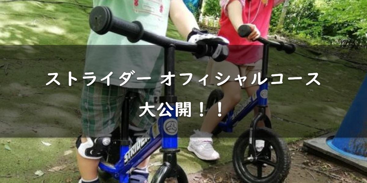 【子供が大喜び】ストライダーの公式コースを写真と動画で大公開!