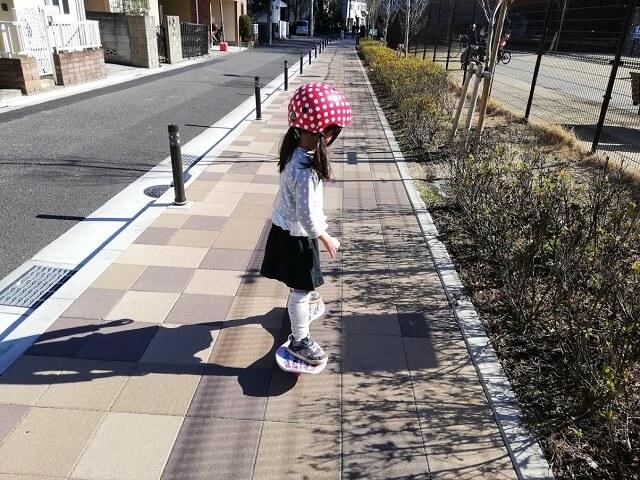 ブレイブボードで遊ぶ娘