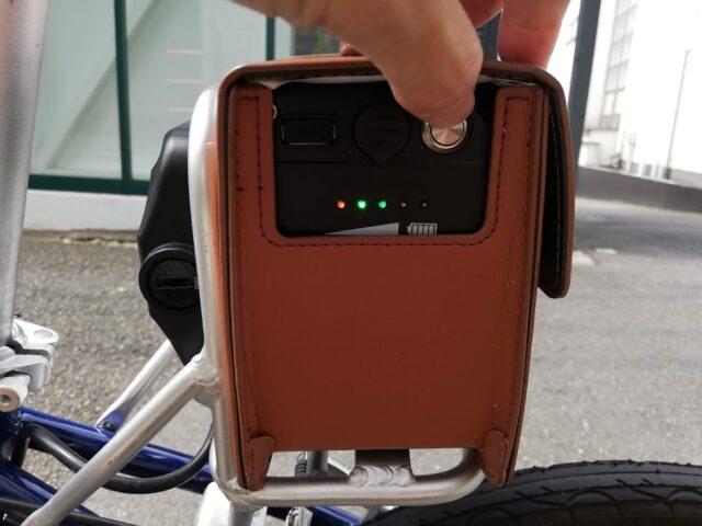 バッテリーの残量確認ライト
